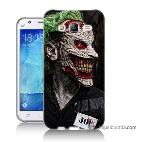 Teknomeg Samsung Galaxy J7 Kapak Kılıf Joker Joe Baskılı Silikon