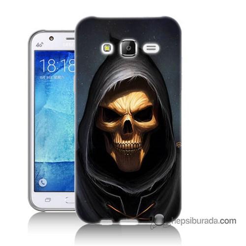 Teknomeg Samsung Galaxy J7 Kılıf Kapak Ölüm Meleği Baskılı Silikon