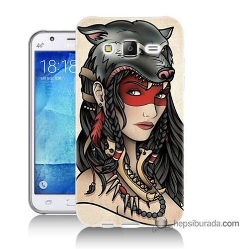 Teknomeg Samsung Galaxy J7 Kapak Kılıf Pocahontas Baskılı Silikon