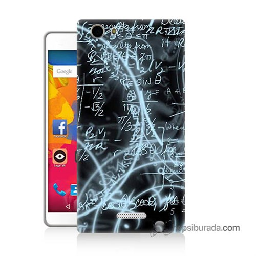 Teknomeg Casper Via M1 Kapak Kılıf Matematik Baskılı Silikon