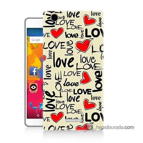 Teknomeg Casper Via M1 Kapak Kılıf Love Baskılı Silikon