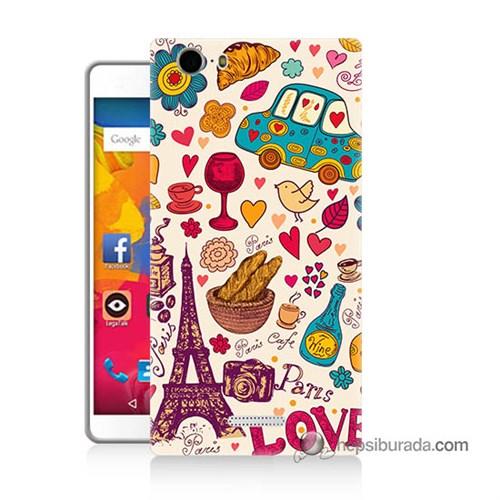 Teknomeg Casper Via M1 Kapak Kılıf Paris Love Baskılı Silikon