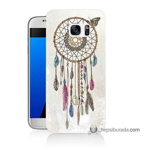 Teknomeg Samsung Galaxy S7 Kapak Kılıf Dream Catcher Baskılı Silikon