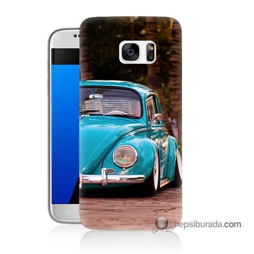 Teknomeg Samsung Galaxy S7 Kapak Kılıf Volkswagen Baskılı Silikon