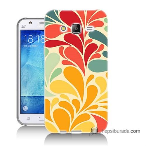 Teknomeg Samsung Galaxy J5 Kapak Kılıf Çiçekler Baskılı Silikon