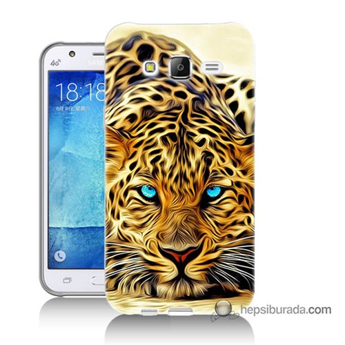 Teknomeg Samsung Galaxy J5 Kılıf Kapak Kaplan Baskılı Silikon