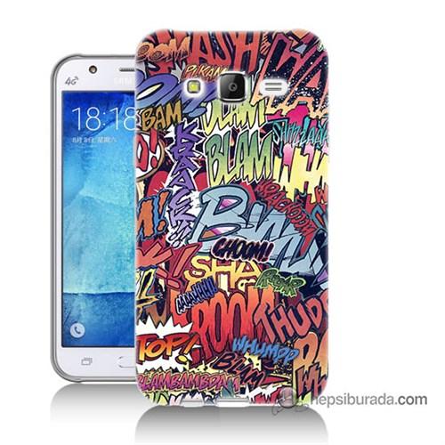 Teknomeg Samsung Galaxy J5 Kılıf Kapak Efekt Baskılı Silikon
