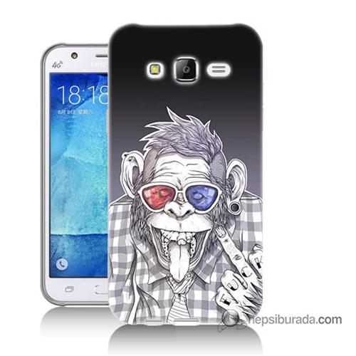 Teknomeg Samsung Galaxy J7 Kapak Kılıf Maymun Baskılı Silikon