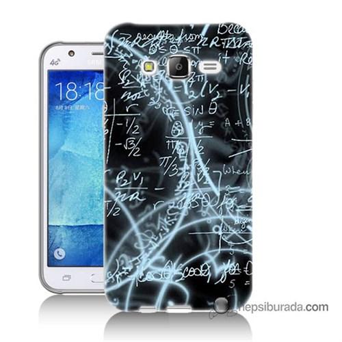 Teknomeg Samsung Galaxy J7 Kapak Kılıf Matematik Baskılı Silikon