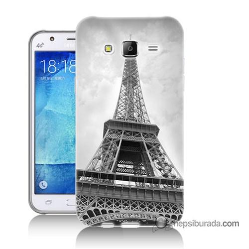 Teknomeg Samsung Galaxy J7 Kapak Kılıf Eyfel Kulesi Baskılı Silikon