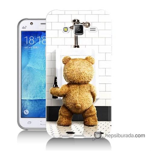 Teknomeg Samsung Galaxy J7 Kılıf Kapak Tedy Bear Baskılı Silikon