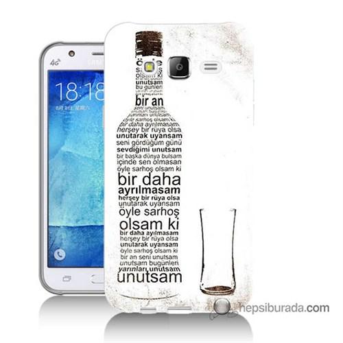 Teknomeg Samsung Galaxy J7 Kapak Kılıf Rakı Şişesi Baskılı Silikon