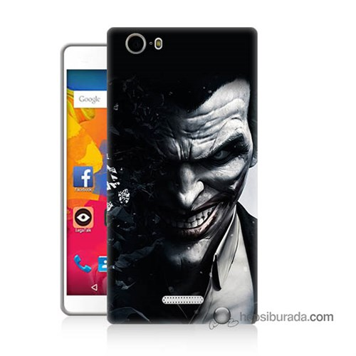 Teknomeg Casper Via M1 Kılıf Kapak Joker Baskılı Silikon