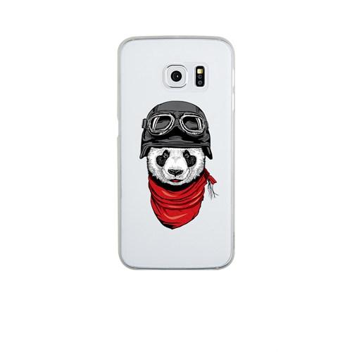 Remeto Samsung S6 Edge Plus Silikon Motorcu Panda
