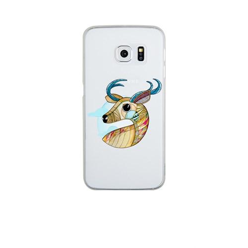 Remeto Samsung S6 Edge Plus Silikon Portre Geyik