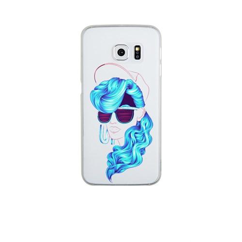 Remeto Samsung S6 Edge Plus Silikon Mavi Bukleli Model