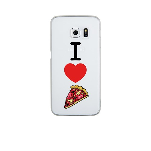 Remeto Samsung S6 Edge Silikon I Love Pizza