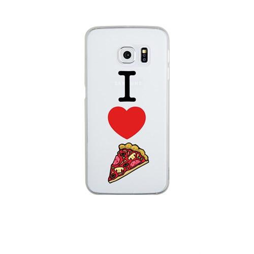 Remeto Samsung S6 Edge Silikon I Love Pizza