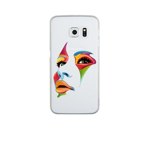 Remeto Samsung S6 Edge Silikon Renkli Yüz