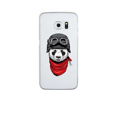 Remeto Samsung S6 Edge Silikon Motorcu Panda