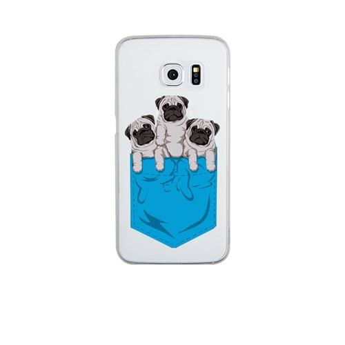 Remeto Samsung S6 Edge Silikon Yavru Köpekler Cepte