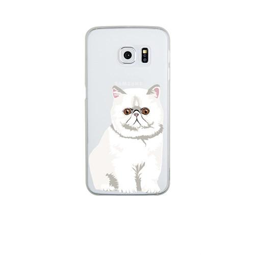 Remeto Samsung S6 Edge Silikon Şaşkın Kedi Kedisi