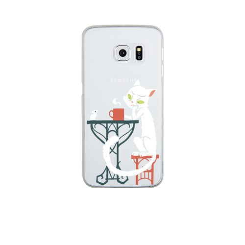 Remeto Samsung S6 Edge Silikon Efkarlı Kedi