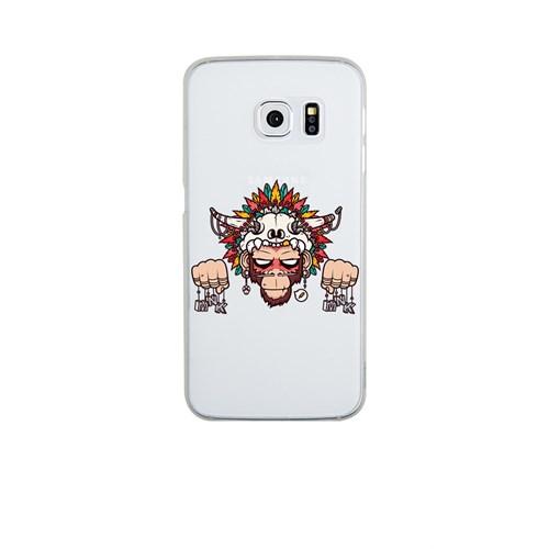 Remeto Samsung S6 Edge Silikon Kızılderili Maymun