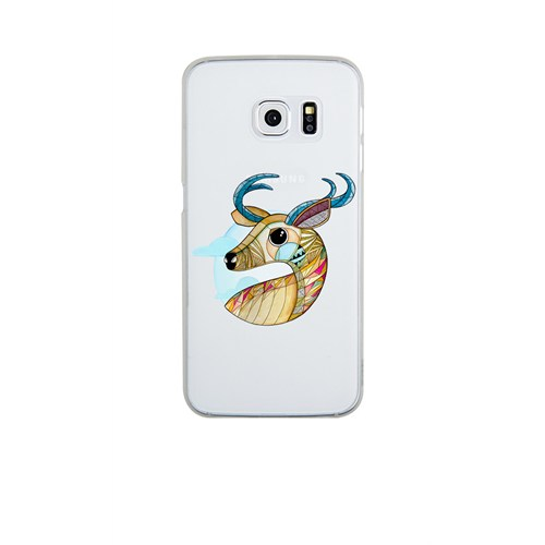 Remeto Samsung S6 Silikon Portre Geyik