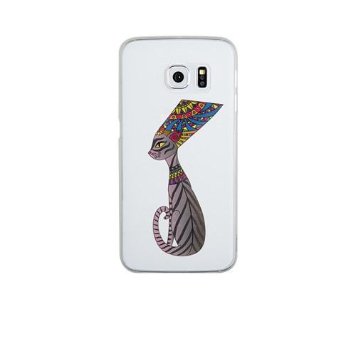 Remeto Samsung S6 Silikon Mısır Kraliçesi Nefertitinin Kedisi
