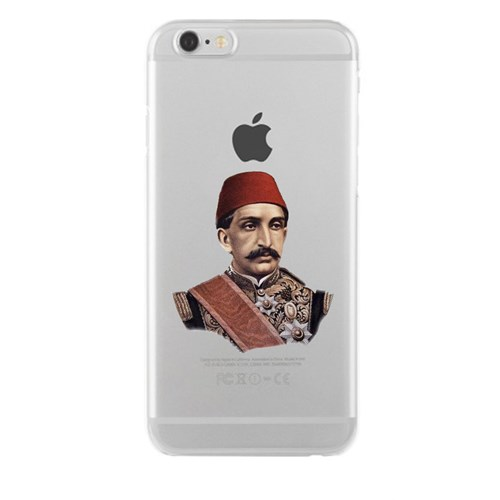 Remeto iPhone 6/6S Şeffaf Transparan Silikon Resimli Sultan Abdulhamid Han Kapak