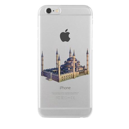 Remeto iPhone 6/6S Şeffaf Transparan Silikon Resimli Sultan Ahmet Cami