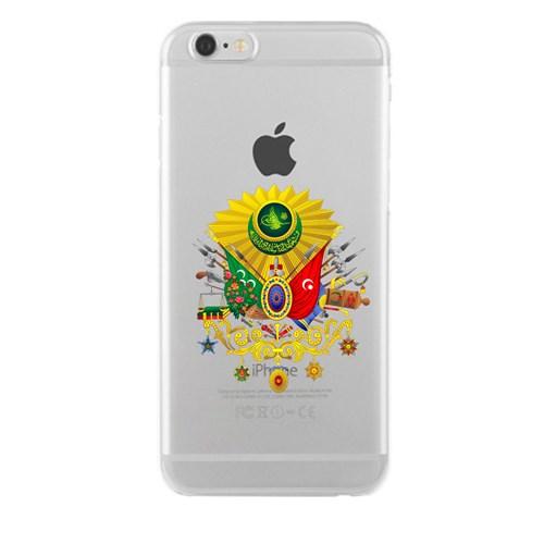 Remeto iPhone 6/6S Plus Şeffaf Transparan Silikon Resimli Osmanlı Tuğrası