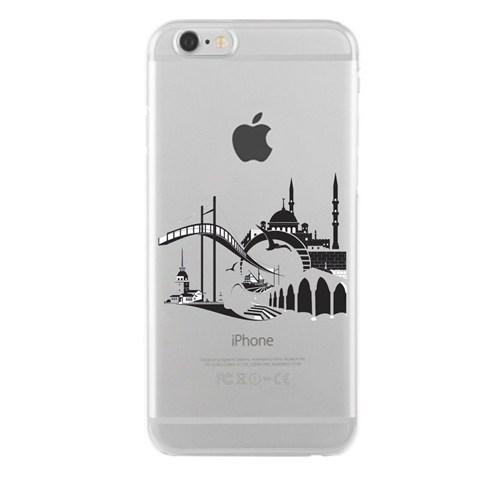 Remeto iPhone 5/5S Şeffaf Transparan Silikon Resimli İstanbul Silüet