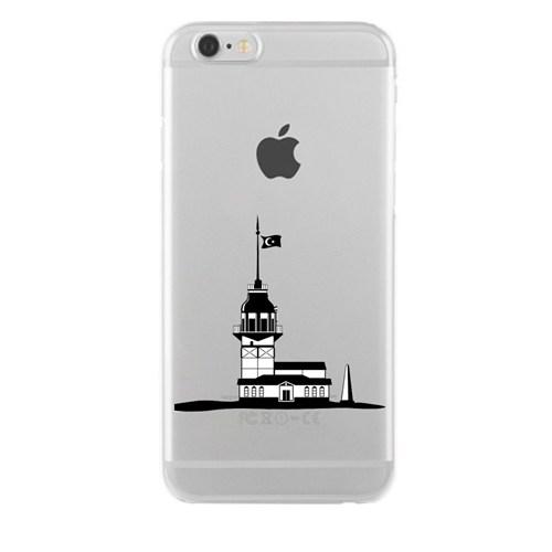 Remeto iPhone 5/5S Şeffaf Transparan Silikon Resimli Kız Kulesi