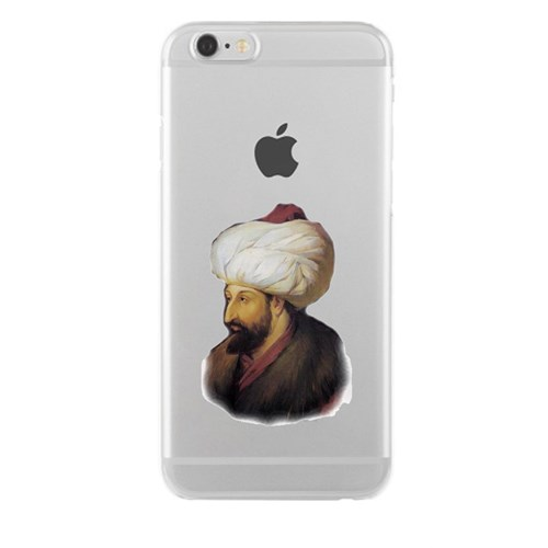 Remeto iPhone 4/4S Şeffaf Transparan Silikon Resimli Fatih Sultan Mehmet