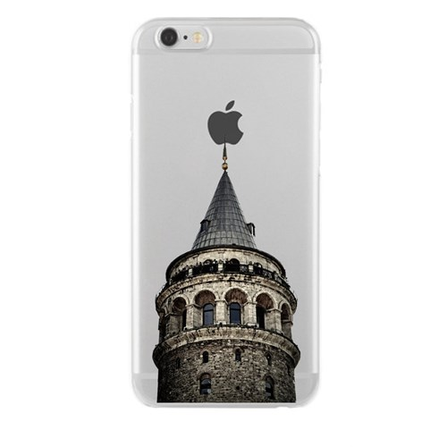 Remeto iPhone 4/4S Şeffaf Transparan Silikon Resimli Galata Kulesi