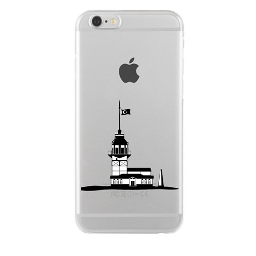 Remeto iPhone 4/4S Şeffaf Transparan Silikon Resimli Kız Kulesi