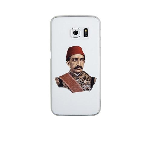 Remeto Samsung Galaxy S6 Şeffaf Transparan Silikon Resimli Sultan Abdulhamid Han Kapak