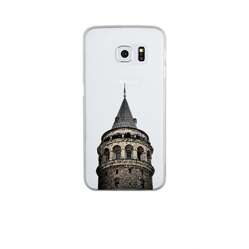 Remeto Samsung Galaxy S6 Şeffaf Transparan Silikon Resimli Galata Kulesi