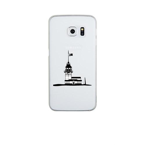 Remeto Samsung Galaxy S6 Şeffaf Transparan Silikon Resimli Kız Kulesi