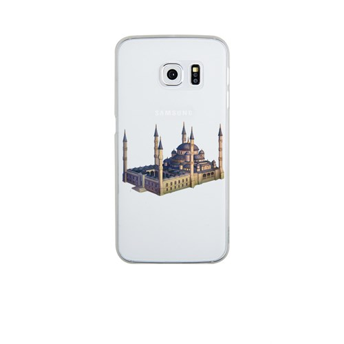 Remeto Samsung Galaxy S6 Edge Şeffaf Transparan Silikon Resimli Sultan Ahmet Cami