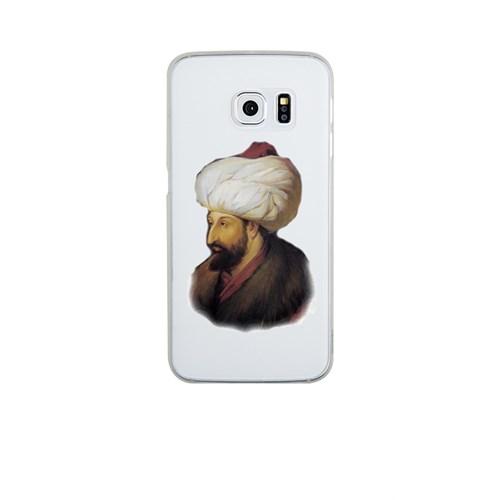 Remeto Samsung Galaxy S6 Edge Plus Şeffaf Transparan Silikon Resimli Fatih Sultan Mehmet
