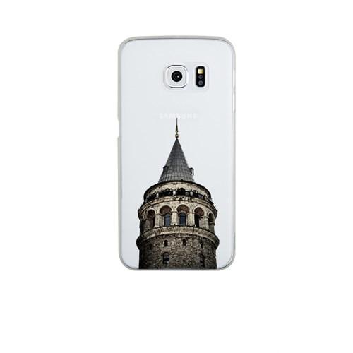 Remeto Samsung Galaxy S6 Edge Plus Şeffaf Transparan Silikon Resimli Galata Kulesi