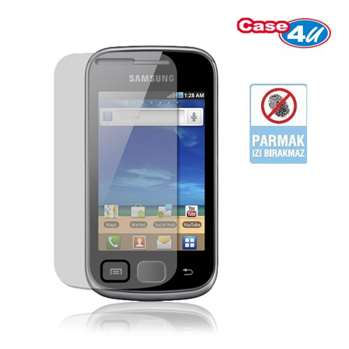 Case 4U Samsung Galaxy Gio S5660 Ekran Koruyucu (Parmak izi bırakmaz)*