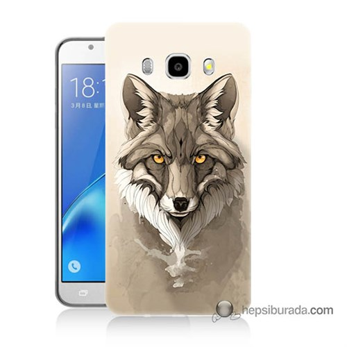 Teknomeg Samsung J5 2016 Kılıf Kapak Kurt Baskılı Silikon