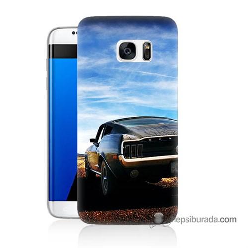 Teknomeg Samsung Galaxy S7 Edge Kılıf Kapak Mustang Baskılı Silikon