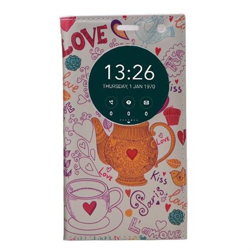 Teleplus Asus Zenfone Go 5 İnç Pencereli Desenli Kılıf Love