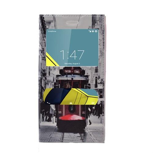 Teleplus Vodafone Smart 6 Desenli Çift Pencereli Kılıf Taksim