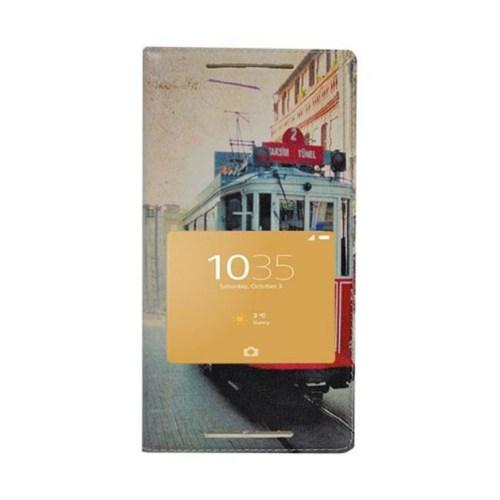 Teleplus Sony Xperia Z5 Desenli Pencereli Kılıf Taksim